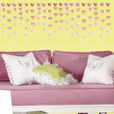 watercolor heart peel and stick wall decals caleydaniel pte ltd