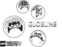 globlins coloring page printable sheet lego nexo knights
