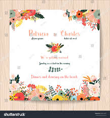 Official Invitation Card Wedding Invitation Card Flower Templates On Stock Vector 608441285