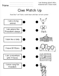 social studies worksheets for kindergarten american symbols freebies