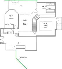 ranch floor plans with basement finished attic plan basement plansample floor plans software