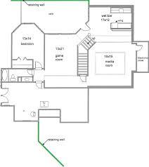 finished basement floor plans walkout house laferida com floor