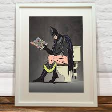 batman on the toilet print toilet batman and limes