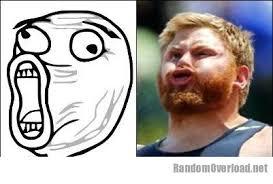Lol Face Meme - lol face meme totally looks like u s shot putter kurtis roberts