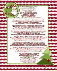 the night before christmas poem printable u2013 fun for christmas