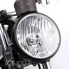 suzuki motorcycle black lights 7 inch motorcycle headlight sae black ns 2209s