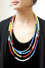 diy necklace with rope images 25 beautifully colorful diy necklaces jpg