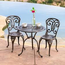Wrought Iron Patio Bistro Set Outdoor Bistro Set