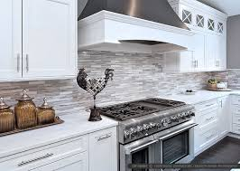 WHITE MODERN SUBWAY Marble Mosaic Backsplash Tile - Modern kitchen backsplash
