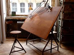 Drafting Table Chair Antique Drafting Table Hardwood Floor In A Chevron Pattern And