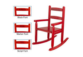 Personalized Kid Chair 2 Slat Kids Rocking Chair U2013 Red Personalized Cool Kids Chairs