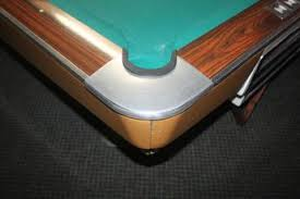 pool table corner castings brunswick gold crown i 9 vintage tournament grade pool table pre ow