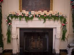 white house state dining room fireplace