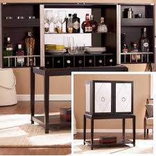 Bar Mirror With Shelves by Black Mirrored Bar Cabinet Best Home Furniture Decoration