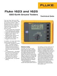 fluke 1623 and 1625 pdf alternating current battery electricity