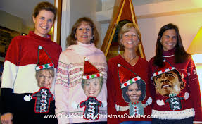 michelle obama ugly sweater cardigan with buttons