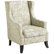 White Leather Bedroom Chair Alec Blue Floral Wing Chair Living Rooms Room And Bedrooms
