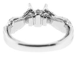 twisted shank engagement ring engagement rings combination set engagement rings semi mount
