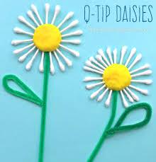 q tip daisy craft u2013 the pinterested parent