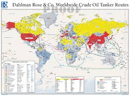 World Map Aruba by Oil Tanker Routes Maps Com Solutions