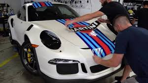 porsche martini porsche 911 gt3 rs arlon color change vinyl martini graphics