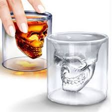 Cool Cup Magic Cool Clear Skull Head Shot Glass Creative Party Wine Cup