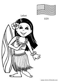 coloring enfant hawai coloringme coloring pages hawai