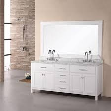 design element 72 inch carrara marble white sink