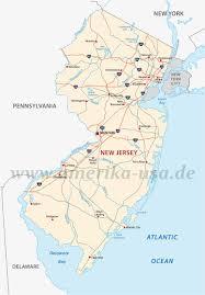 Garden State Parkway Map New Jersey An Der Ostküste Der Usa