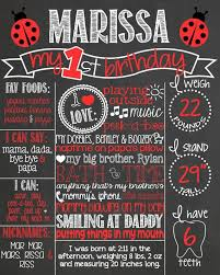1st birthday chalkboard 1st birthday poster best 25 birthday posters ideas on