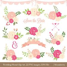 wedding flowers clipart floral clipart wedding floral clipart flowers clipart eps