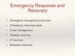 disaster recovery creating a plan emergency business continuity