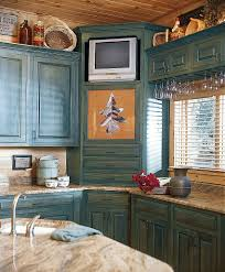 blue kitchen cabinets in cabin 30 corner drawers and storage solutions for the modern kitchen