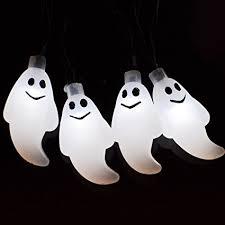 halloween ghost string lights amazon com halloween ghost solar lights solar powered waterproof