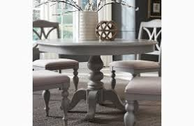 gray round dining table set summer house dove grey round dining room set from liberty coleman
