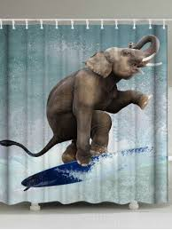 2018 elephant shower curtain online store best elephant shower