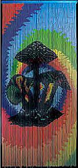 Bead Curtains For Doors Bamboo Doorway With Magic Mushrooms