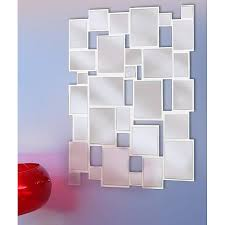 Mirror Collage Wall Collage 39x28 Glossy White Wall Mirror Free Shipping Today