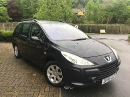 black peugeot peugeot 307 estate 1 6 hdi black 2005 motor farmmotor farm