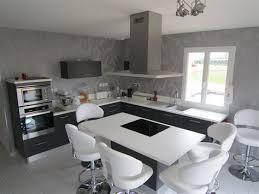 deco cuisine blanche et grise beautiful idee déco cuisine blanche 9 salle de bain blanc