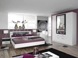 chambre 180x200 chambre complète bruno 180x200 cm blanc gris métal chez mobistoxx
