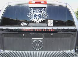 dodge ram rear window truck back window dodge ram hemi tribal vinyl will fit any