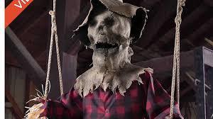 my spirit halloween props spirit halloween 2016 sneakpeeks 6ft swinging scarecrow youtube