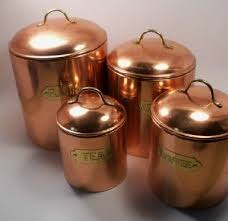 copper kitchen canister sets vintage canister set i this set for sale at pickers paradise