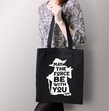 wars gift bags wars black may the by with you yoda tote bag