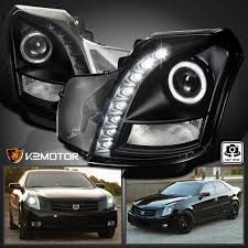 value of 2003 cadillac cts 2003 2007 cadillac cts halo smd led drl projector headlights black