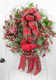cardinal christmas wreath designers wreaths and pinecone