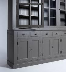 vaisselier cuisine pas cher cuisine grand bahut vaisselier vitrã gris foncã made in meubles