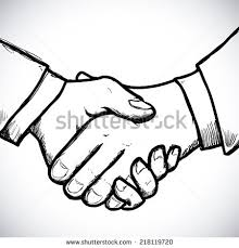 sketch illustration two hands holding each stock vector 263633897