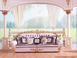 Baroque Style Living Room Sofa SetRetro Wood Carving Living Room - Sofa set in living room